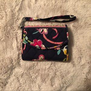 Vera Bradley Wrist Wallet in Ribbons Pattern